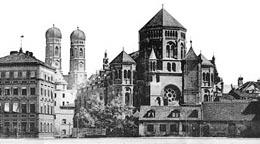 Auf Wunsch Ludwig II. gebaut: Die einstige Hauptsynagoge in der Stadtmitte. (© Foto: Jüdisches Zentrum)